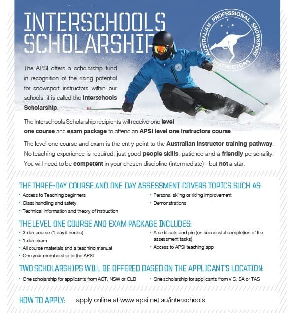 Interschool's Scholarship 2018